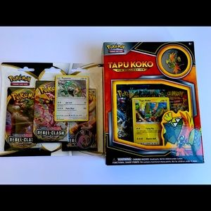 Pokemon cards (6 packs, 62 cards total)